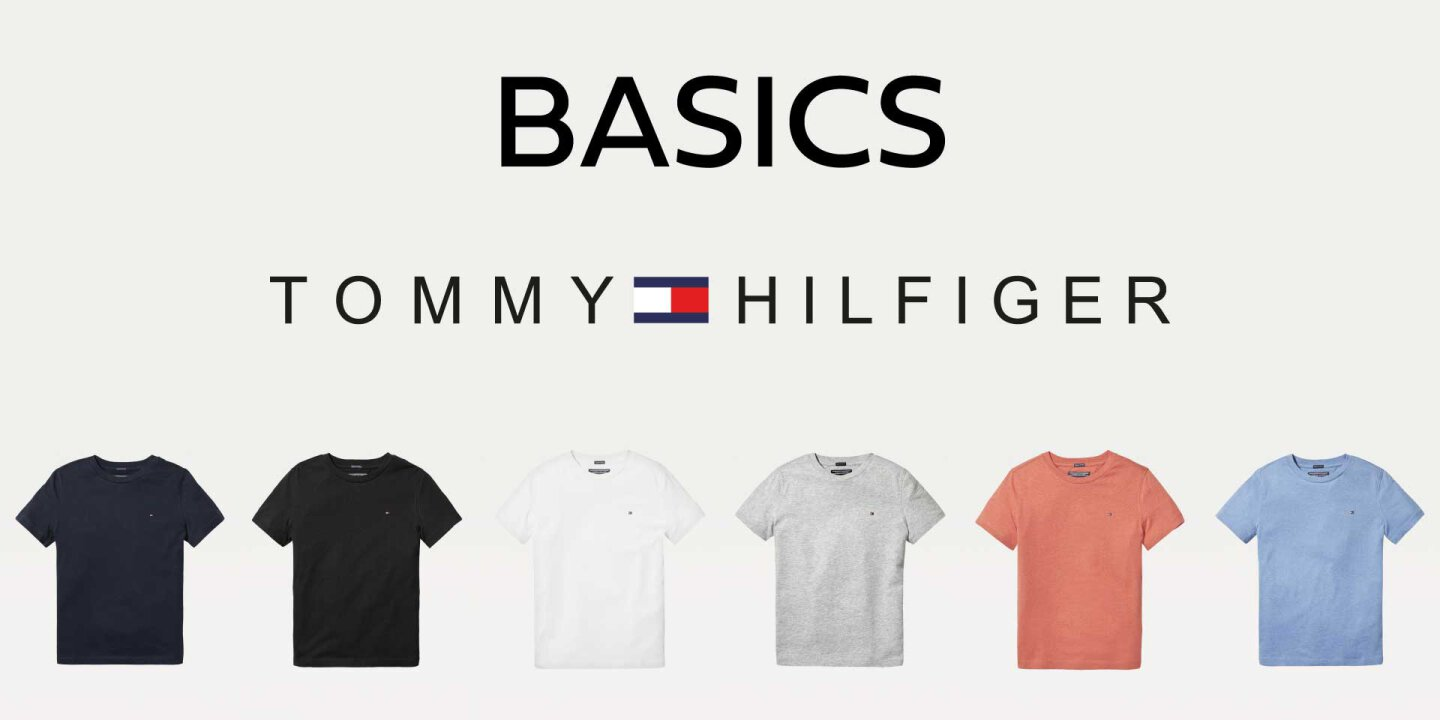 Tommy Hilfiger Basic T-Shirts mit Flag Logo Print auf der...
