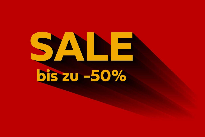 Sale bis zu -50% auf Kleidung, Schuhe und Accessoires