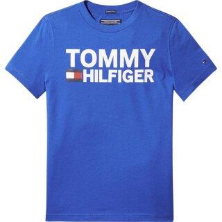 T-Shirt Logo Blau 92