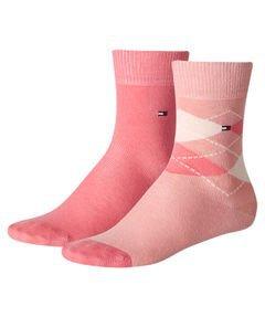 Socken 2er Pack Rosa 35/38