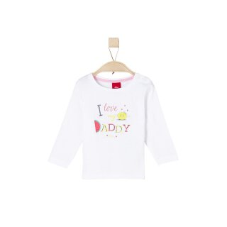 Langarmshirt I Love Daddy Weiß 68