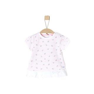 T-Shirt liniert Fische Rosa 68