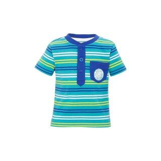 T-Shirt liniert Türkis 68