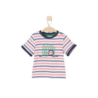T-Shirt liniert Blau 68