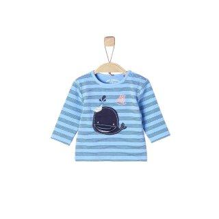 Langarmshirt Wal Blau 62