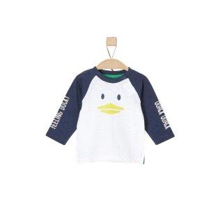 Langarmshirt Ente Blau 68