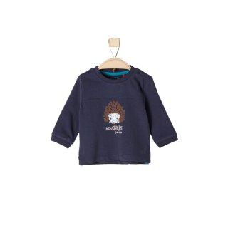 Langarmshirt Igel Blau 62