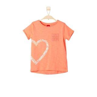 T-Shirt Herz Orange 128/134