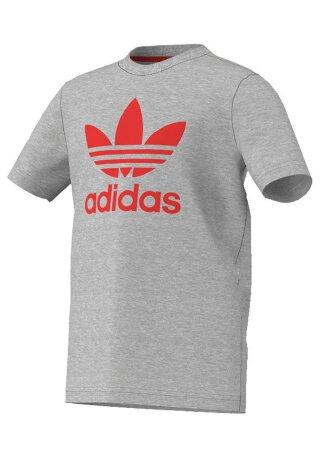 T-Shirt Trefoil Logo Grau 128