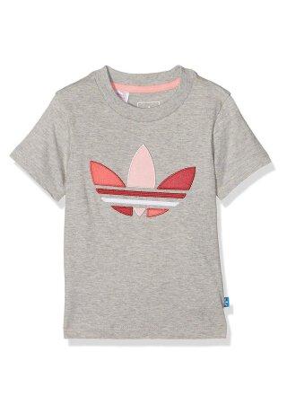 T-Shirt mit Logo Grau 92