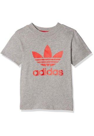 T-Shirt Trefoil Logo Grau 68