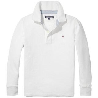 Poloshirt langarm Weiß 104