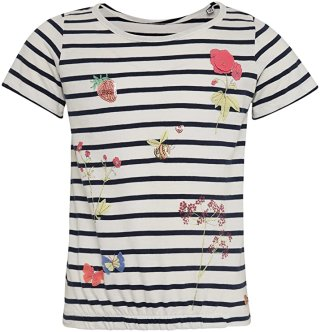 Striped Tee with flowers