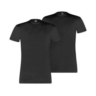 T-Shirt Rund Schwarz S