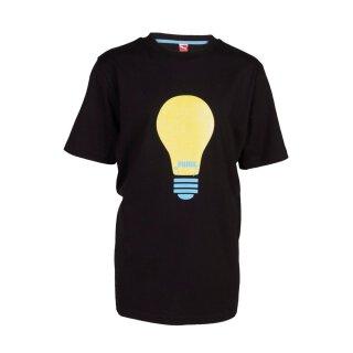 T-Shirt Glühbirne Schwarz 140