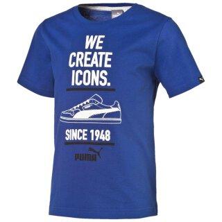 T-Shirt We Create Icons. Blau 152