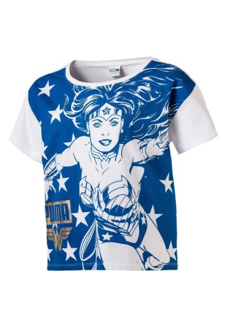 T-Shirt Wonder Women Weiß/Blau 104