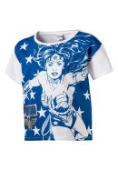 T-Shirt Wonder Women Weiß/Blau 110